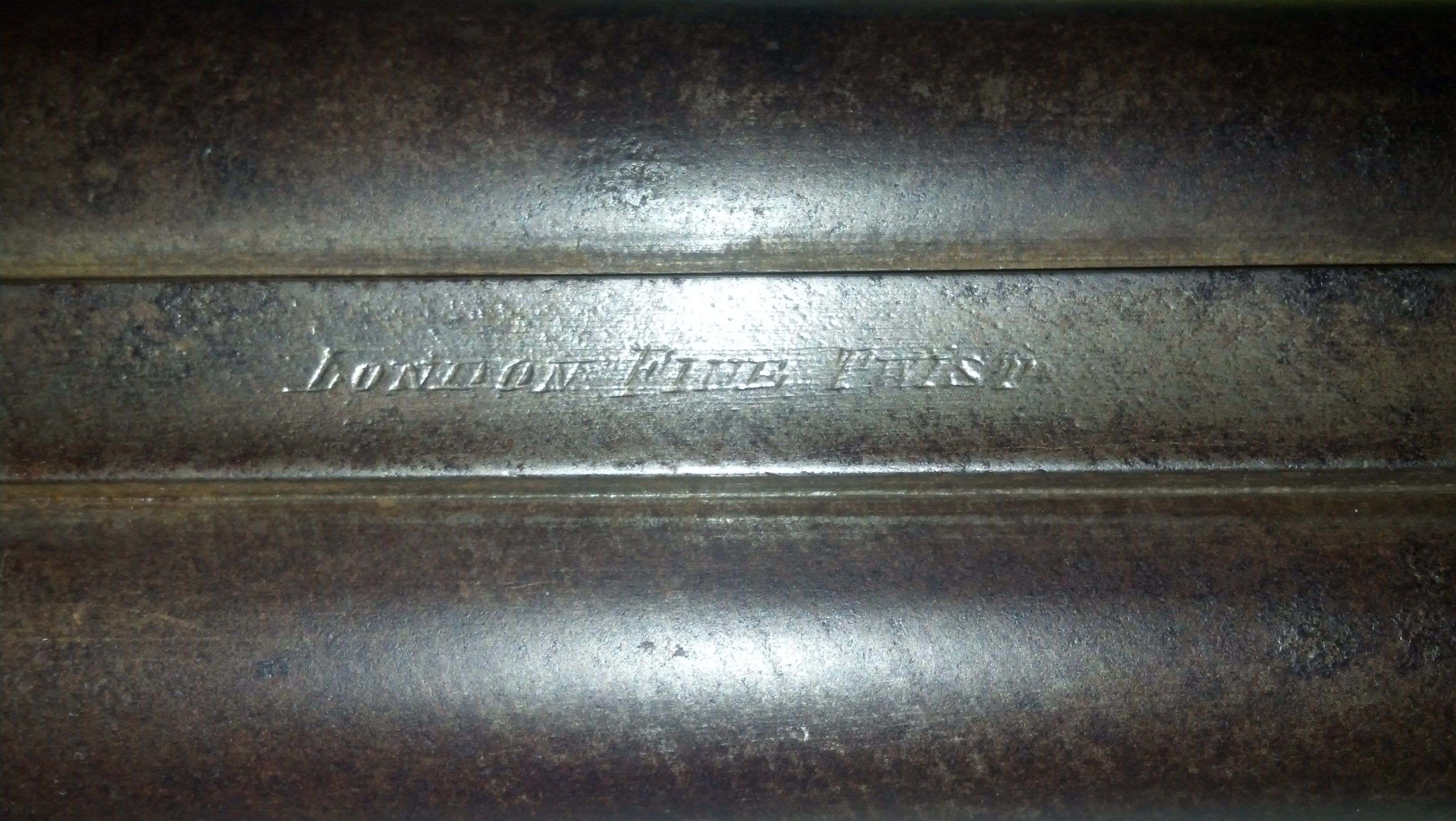 Recent Acquisition: Wm Moore & Co. Damascus 12 ga Center fire Side by Side-img_20130629_065143_351.jpg