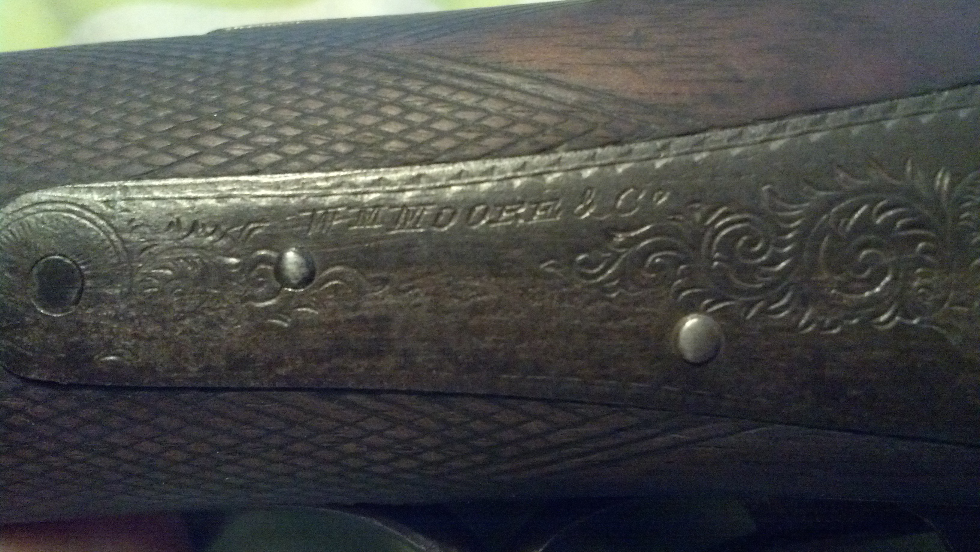 Recent Acquisition: Wm Moore & Co. Damascus 12 ga Center fire Side by Side-img_20130629_065411_757.jpg