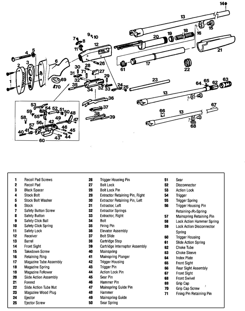 Mossberg 935 Parts Diagram Trusted Wiring Diagrams Remington 870 500 Bolt Enthusiast U2022 Internal